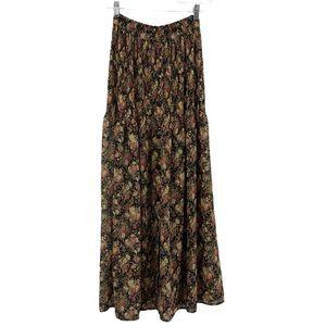 Express Maxi skirt Smocked Drop waist Cottage core